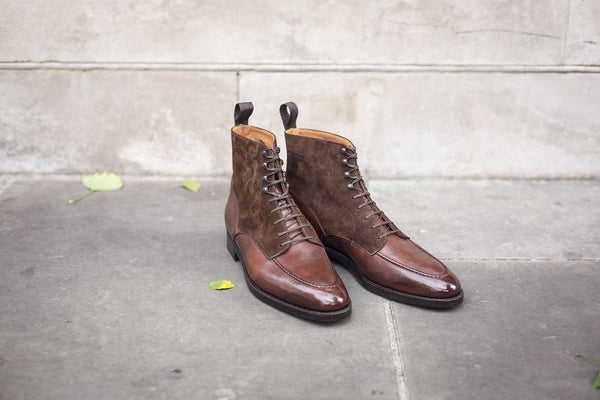 Bremerton - Walnut Museum Calf / Dark Brown Suede