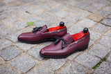 Issaquah - MTO - Burgundy Scotch Grain - MGF Last - Single Leather Sole
