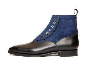 Westlake - MTO - Black Calf / Marine Suede - MGF Last - Single Leather Sole