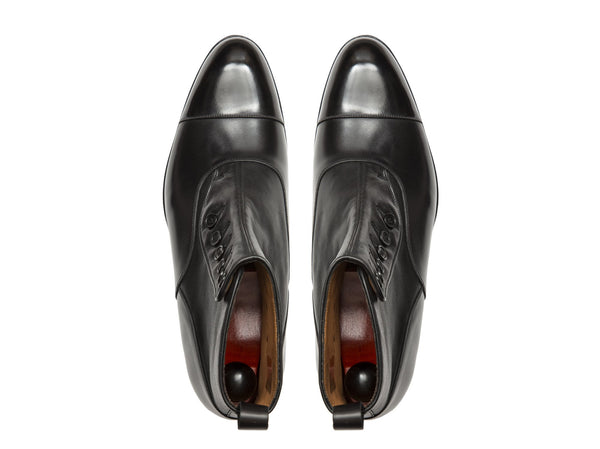 J.FitzPatrick Footwear - Bellevue - Black Calf / Soft Black Leather - NGT Last