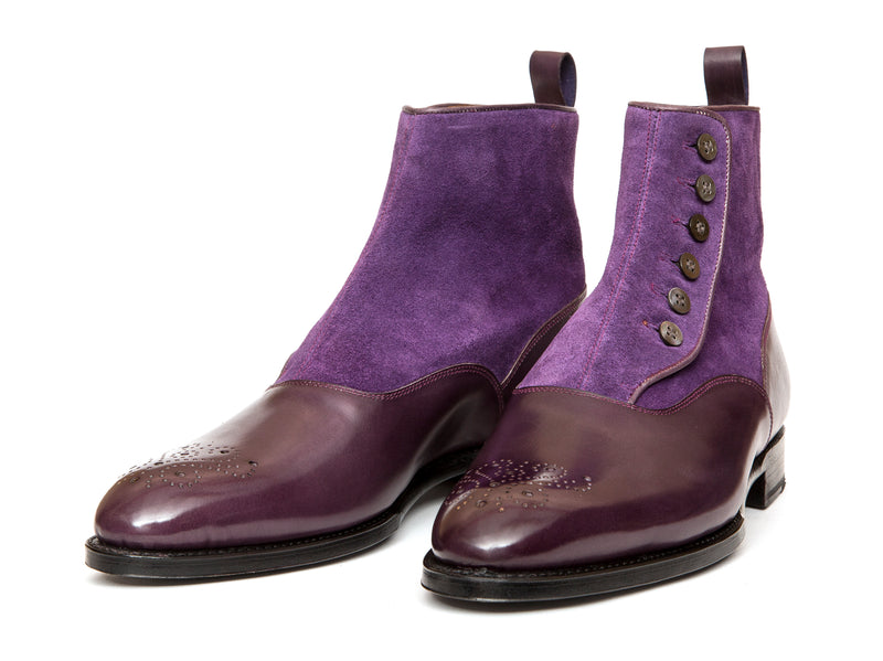 Westlake - MTO - Dark Purple Calf / Purple Suede - NGT Last - Single Leather Sole