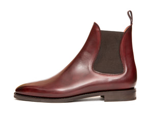 Alki - MTO - Burgundy Calf - LPB Last - City Rubber Sole