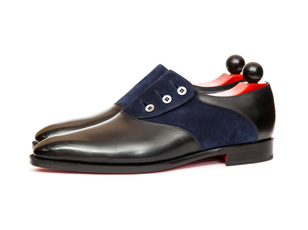 Aurora - MTO - Black Calf / Navy Suede - LPB Last - Single Leather Sole