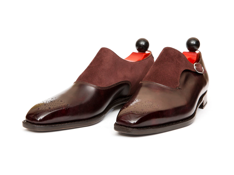 Overlake - MTO - Plum Museum Calf / Burgundy Suede - MGF Last - Single Leather Sole