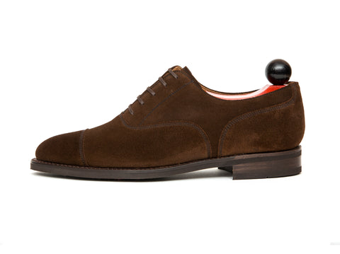 Magnolia - MTO - Dark Brown Suede - TMG Last - City Rubber Sole