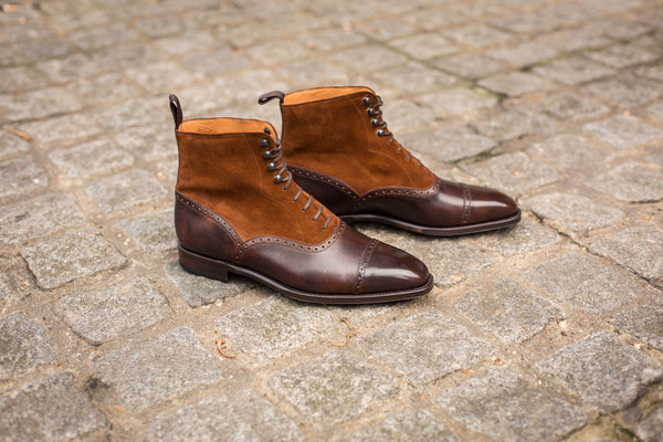David - MTO - Dark Brown Museum Calf / Snuff Suede