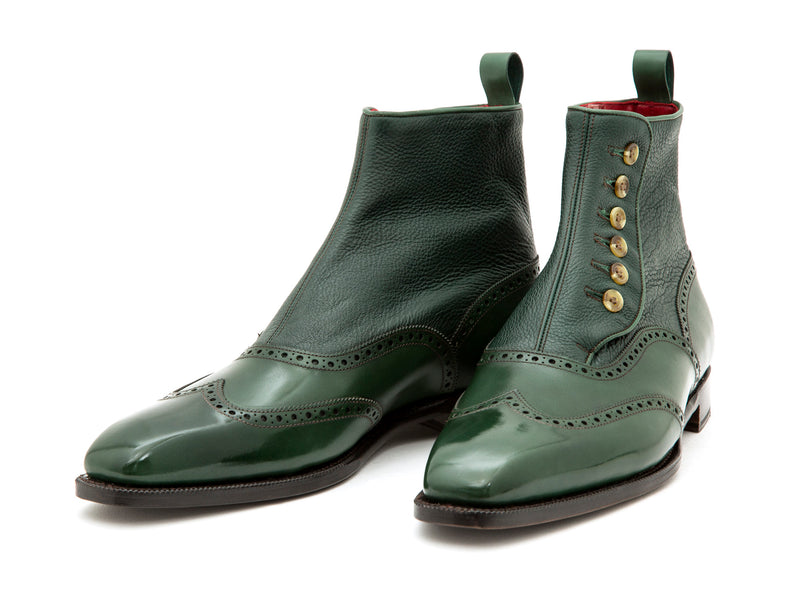 Grandview - MTO - Forest Green Calf / Dark Green Soft Grain - MGF Last - Single Leather Sole