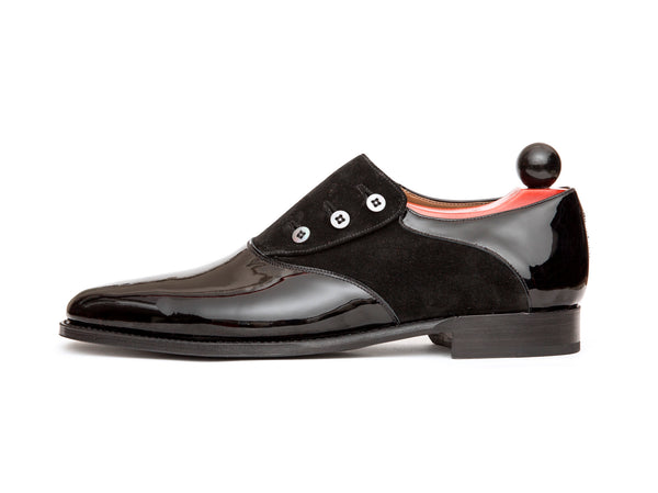 Aurora - MTO - Black Patent Leather / Black Suede - JKF Last - Single Leather Sole