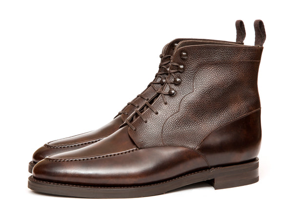 Bremerton - MTO - Dark Brown Museum Calf / Dark Brown Scotch Grain - TMG Last - Double City Rubber Sole