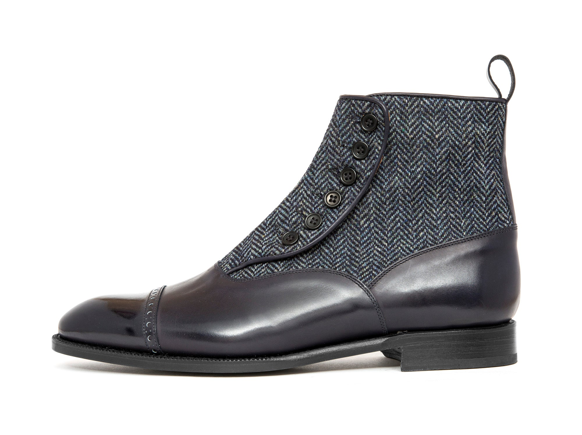 Carkeek - MTO - Midnight Calf / Blue Tweed