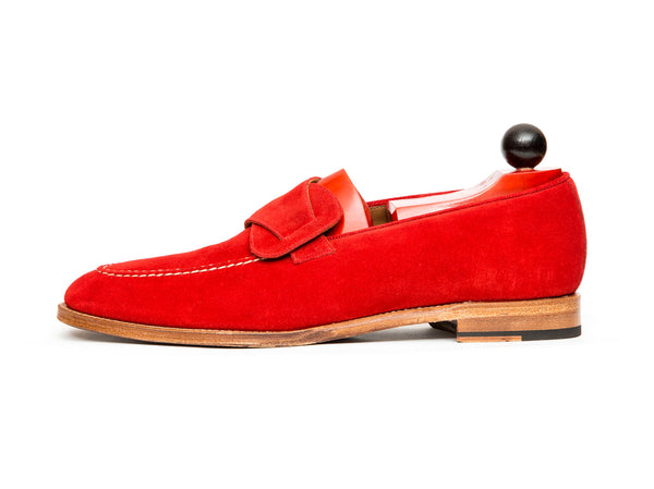 Hawthorne - MTO - Red Suede - TMG Last - Natural Single Leather Sole