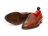 Laurelhurst II - MTO - Braided Gold Museum Calf - TMG Last - Antique Single Leather Sole