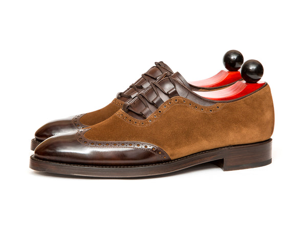 Leavenworth - MTO - Dark Brown Museum Calf / Snuff Suede - SEA Last - Double Leather Sole