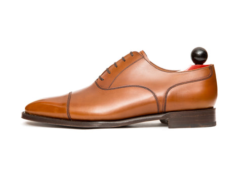 Magnolia - MTO - Caramel Calf - MGF Last - Single Leather Sole