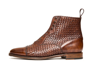 Meadowbrook - MTO - Walnut Braided Museum Calf - TMG Last - Antique Single Leather Sole