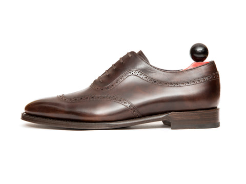 Medina - MTO - Dark Brown Museum Calf - LPB Last - Single Leather Sole