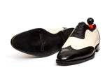 Rainier - MTO - Black Calf / Off White Calf - NGT Last - Single Leather Sole