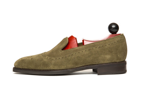 J.FitzPatrick Footwear - Bothell MTO - Olive Suede - LPB Last - City Rubber Sole Brown