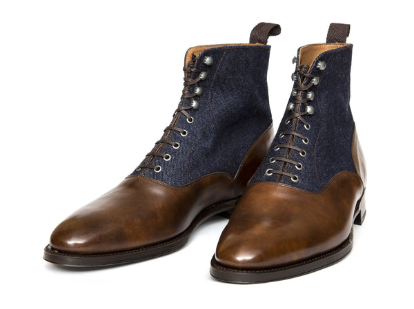 J.FitzPatrick Footwear - Wedgwood - Copper Museum Calf / Denim - TMG Last