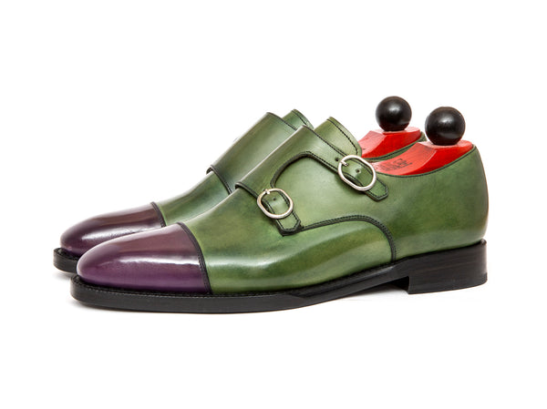Kent - MTO - Purple Calf / Green Museum Calf - MGF Last - Double Leather Sole