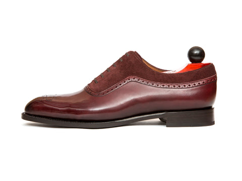 Roosevelt - MTO - Burgundy Calf / Burgundy Suede - NGT Last - Single Leather Sole