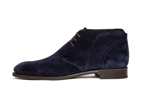 Ballard - MTO - Navy Suede - NGT Last - Single Leather Sole