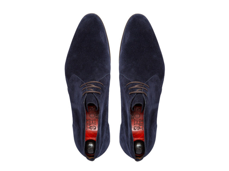 Ballard - MTO - Dark Blue Suede - NGT Last - Single Leather Sole