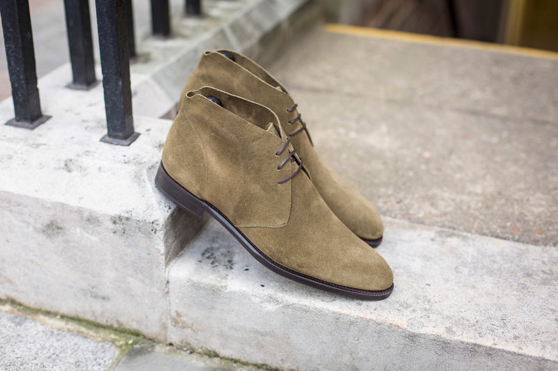 Ballard - MTO - Olive Suede - NGT Last - Double Leather Sole