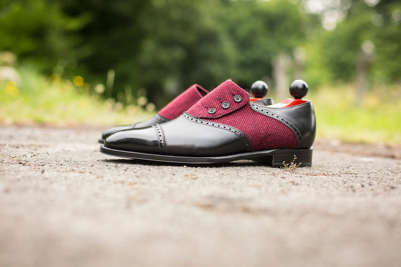 Cyril - MTO - Black Calf / Red Poulsbo - LPB Last - Single Leather Sole