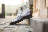 Westlake - MTO - Plum Museum Calf / Pearl Grey Suede - MGF Last - Single Leather Sole