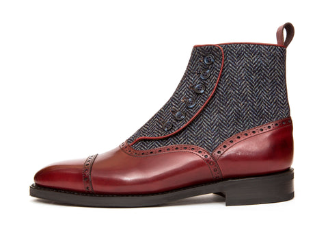Puyallup - MTO - Burgundy Calf / Blue Tweed