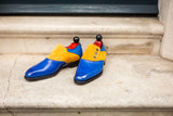 Aurora - MTO - Sky Blue Calf / Yellow Suede - LPB Last - Single Leather Sole
