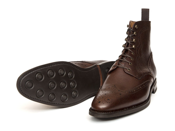 J.FitzPatrick Footwear - Holman - Dark Brown Scotch Grain - TMG Last