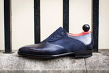 Aurora - MTO - Navy Museum Calf / Navy Suede - LPB Last - Single Leather Sole