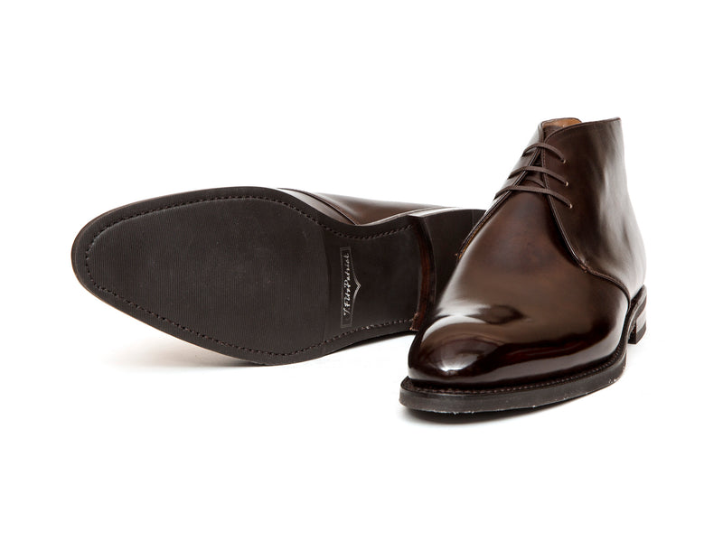 Ballard - MTO - Dark Brown Museum Calf - NGT Last - City Rubber Sole