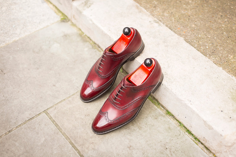 Phinney - MTO - Burgundy Calf - TMG Last - Single Leather Sole
