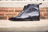David - MTO - Navy Museum Calf - LPB Last - Single Leather Sole