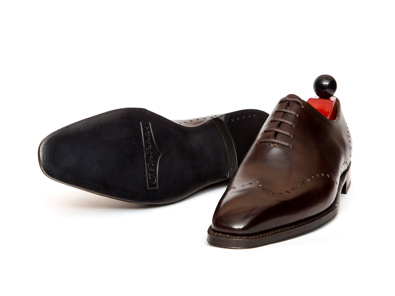 Tony - MTO - Dark Brown Museum Calf - LPB Last - Single Leather Sole