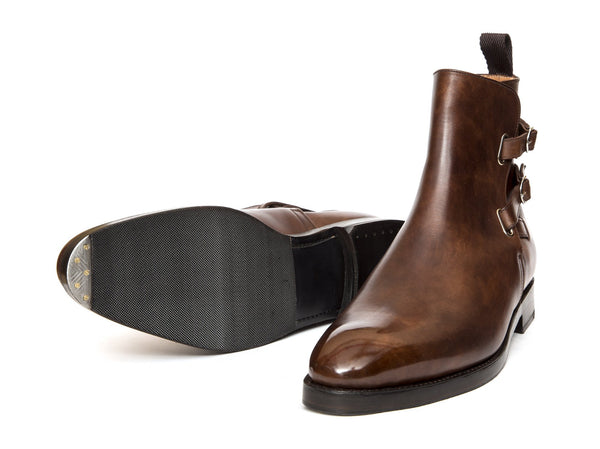 J.FitzPatrick Footwear - Genesee - Copper Museum Calf- TMG Last- Double Leather Sole