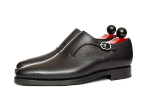 J.FitzPatrick Footwear - Madrona - Black Soft Grain - JKF Last - Double Leather Sole