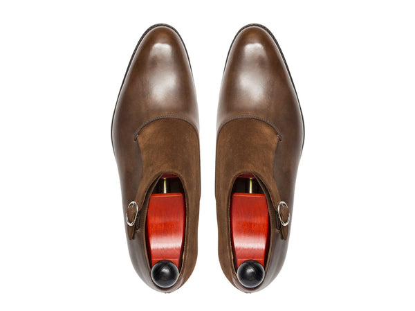 J.FitzPatrick Footwear - Madrona - Copper Museum Calf / Snuff Suede - NGT Last
