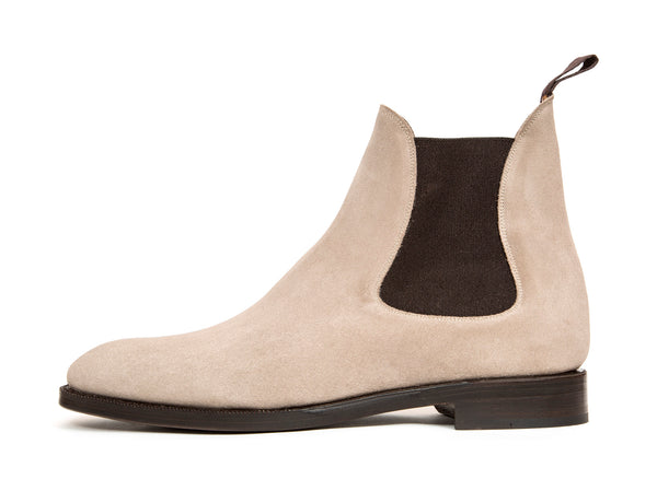 Alki - MTO - Pearl Grey Suede - NGT Last - Double Leather Sole