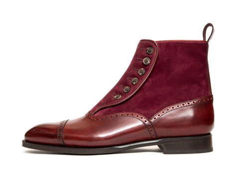 Puyallup - MTO - Burgundy Calf / Burgundy Suede - NGT Last - Single Leather Sole