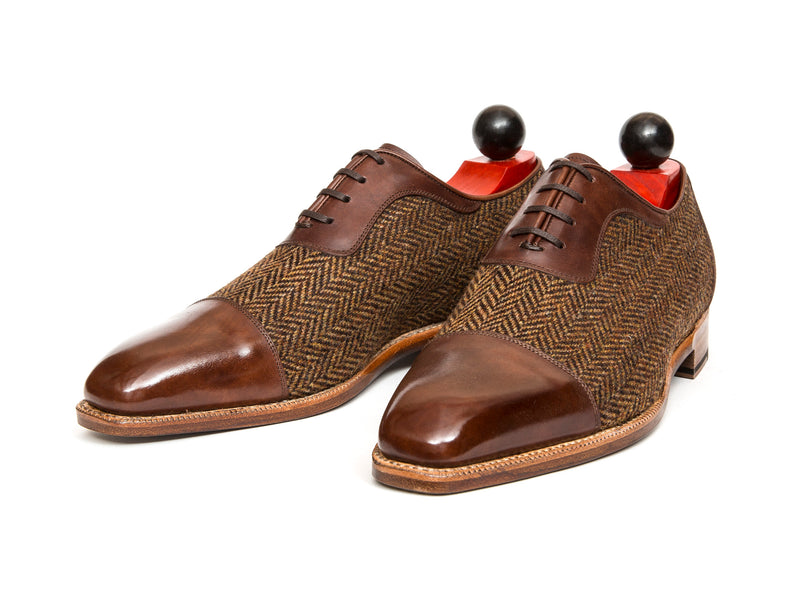 Seaport - MTO - Gold Museum Calf / Gold Tweed - LPB Last - Natural Single Leather Sole