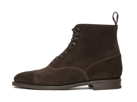 J.FitzPatrick Footwear - Ashworth - Bitter Chocolate Suede - TMG Last - City Rubber Sole