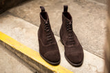 Ashworth - MTO - Dark Brown Suede - TMG Last - City Rubber Sole