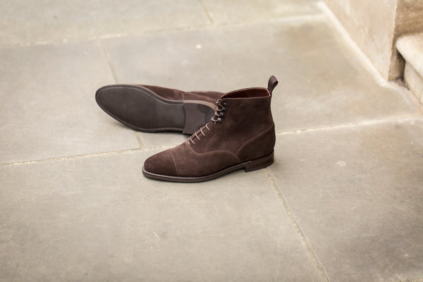Ashworth - MTO - Bitter Chocolate Suede - TMG Last - City Rubber Sole