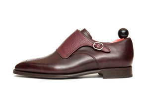 Corliss - MTO - Plum Museum Calf / Burgundy Scotchgrain - MGF Last - Single Leather Sole