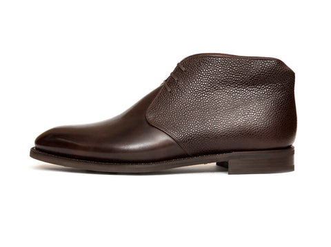 Ballard - MTO - Dark Brown Museum Calf / Dark Brown Scotch Grain - NGT Last - Country Rubber Sole
