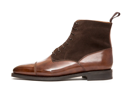 Delridge - MTO - Walnut Museum Calf / Bitter Chocolate Suede - LPB Last - City Rubber Sole